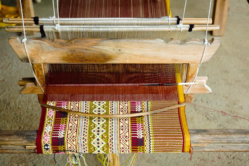 Teenjok Fabric in Loom<br /> Ban Hat Siaw, Sukhothai Province