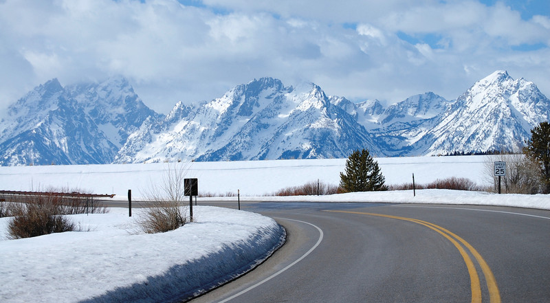 Grand Tetons Mountains as seen from near Jackson, Wyoming