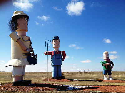 The Tinman Family, part of the Enchanted Highway near Regent, North Dakota
