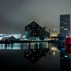 Liverpool, Mann Island. Reflections in the Fog!