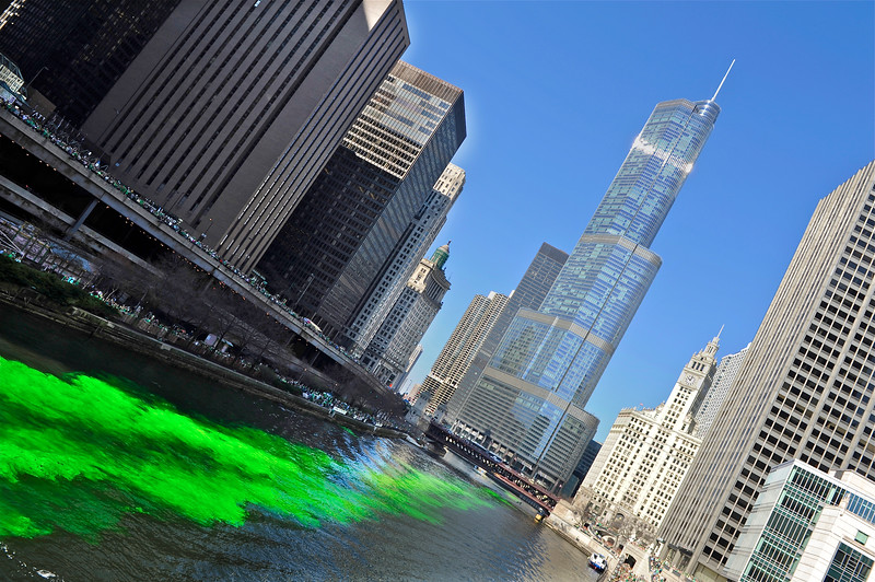 First pass of the green heads to Trump Tower