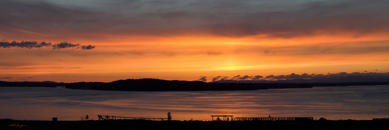 Chambers Bay Sunset (panorama)