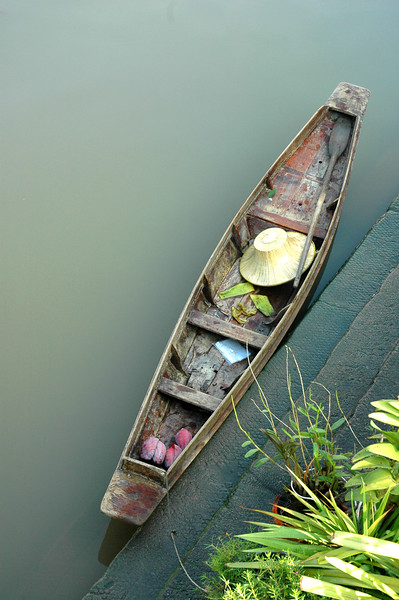 Wooden Boat at Rest<br /> Amphawa, Samut Songkhram