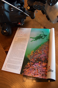"""Another """"Eau Canada"""" feature in DIVER Magazine"""