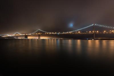 The Bay Bridge an the Moon.