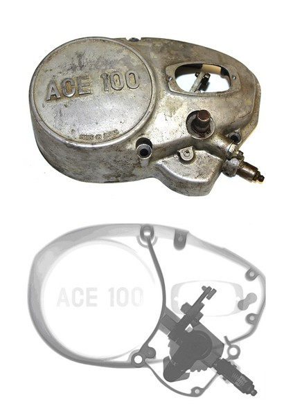 Hodaka ACE 100 Side Cover/Shifter