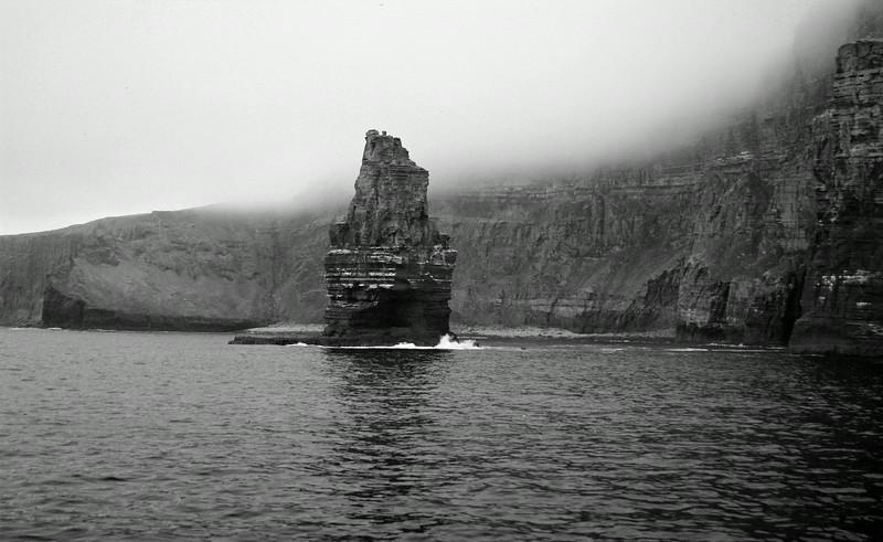 Foggy coast of Galway, Ireland