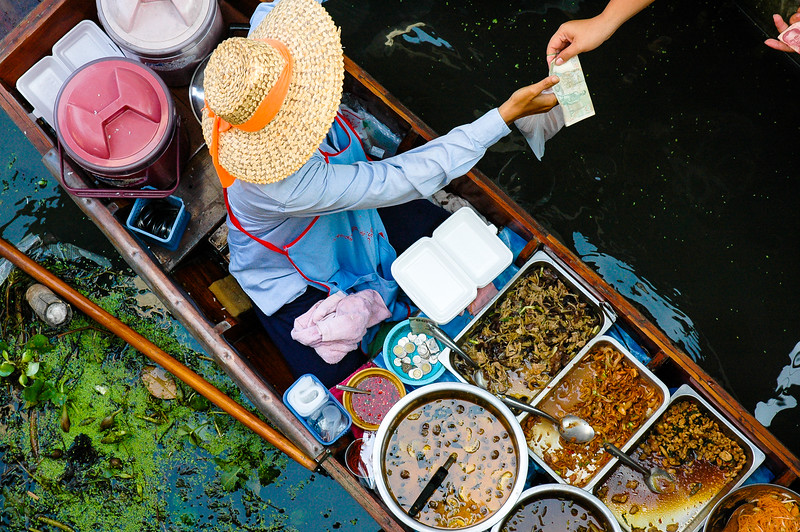 Lunch Boat<br /> Floating Market<br /> Damnoen Saduak, Ratchaburi