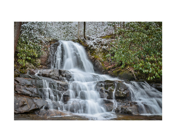 Laurel Falls In Winter