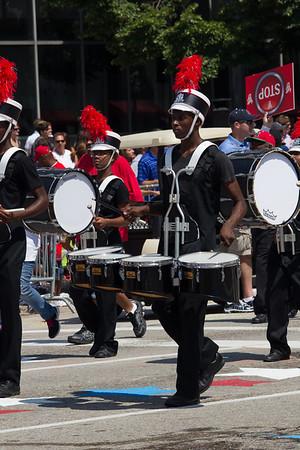 Drummer in Veiled Prophet parade