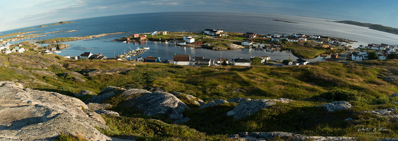 Greenspond Island houses from Sealing Captain's lookout