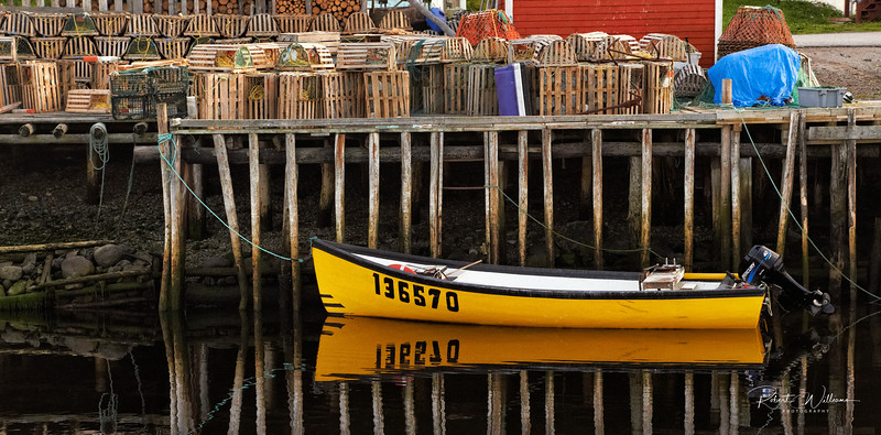 Fishing Boat in Trout River