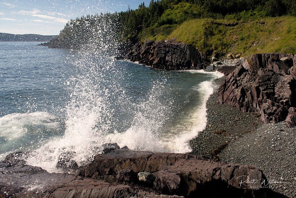Ocean Crashing on Island Cove near Cape Broyle