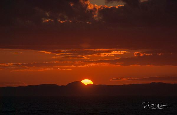 Sunset from Puffin Cottage near Heart's Delight, Newfoundland