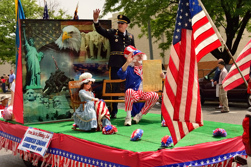 4th of July 2015 Parade:  American Legion Post 60 Float -- Laurel MD