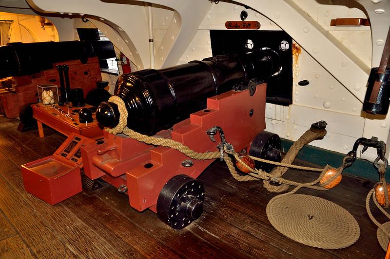 US Frigate Constitution Long Gun. -- 07 DEC 2012.