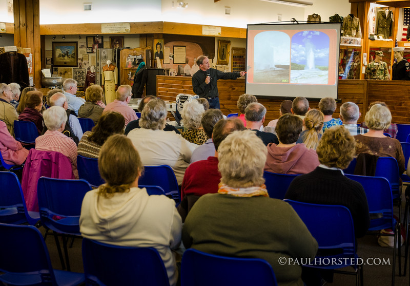 Paul speaks about Yellowstone National Park at the Tri-State Museum in Belle Fourche, S.D.