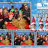 Corporate Christmas holiday free photo booth rental templates