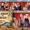 Vintage, rustic wedding or party photo booth template.