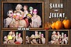 Rustic, Vintage Fall Western Wedding Photo Booth Templates