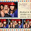Rustic vintage postcard photo booth template wedding