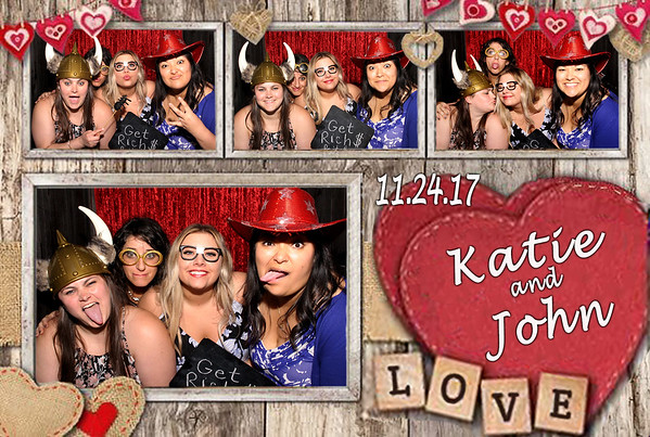 Rustic vintage heart photo booth template wedding