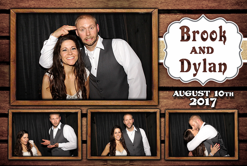 Rustic, Vintage Western Wedding Photo Booth Templates