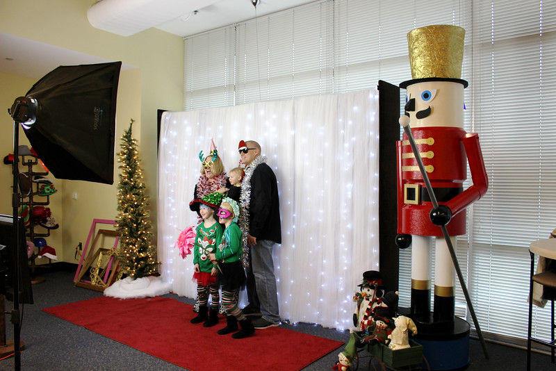 A Corporate Christmas Photo Booth Shoot For Waddell & Reed.