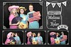 Rustic, Chalkboard Wedding Photo Booth Template. http://thelookingglassphotobooths.com/