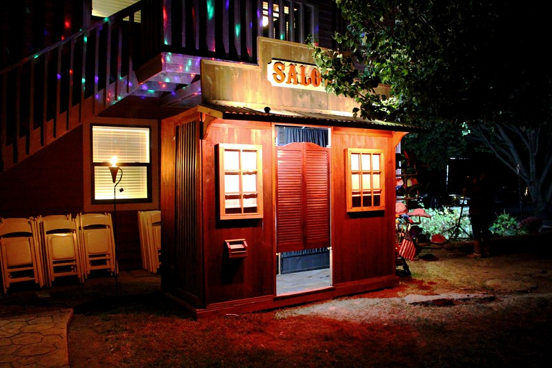 Our Rustic Western Saloon Photo Booth At An Outside Wedding.