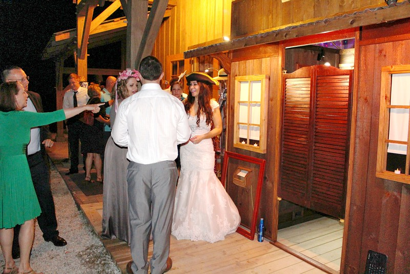 Our Rustic Western Saloon Photo Booth With The Bride.