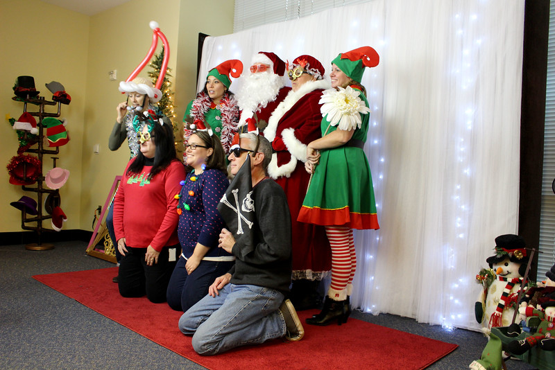 A Corporate Christmas Red Carpet Photo Shoot For Waddell & Reed In Overland Park.