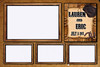 Rustic, Vintage Western Cowboy Wedding Photo Booth Templates