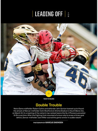 Sample NCAA sports  (Sports Illustrated) photo by Marcus Snowden 2015-16