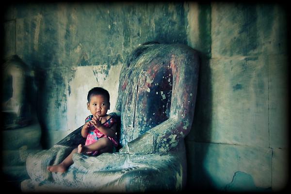 In Buddha's lap