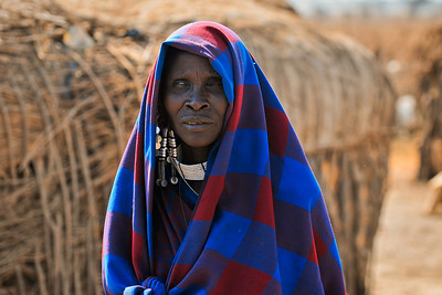 Massai woman in the Tanzanean village near Ngorongoro