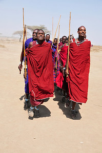Massai tribe, welcome dance (Tanzania)