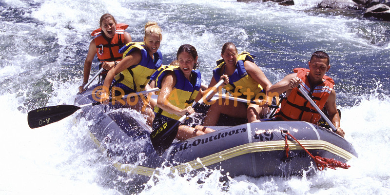 White water rafting on the American river