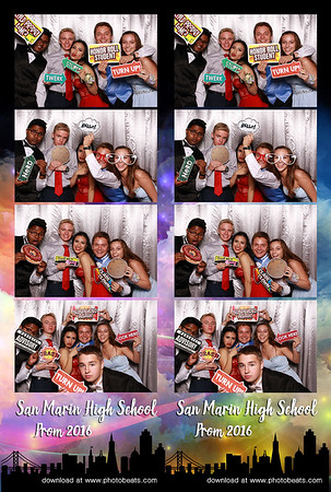 Photo Booth Designs: 2x6 Strips (4 Photos)