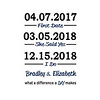 2018 Gordon dates canvas