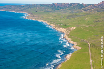 Over Jalama Beach looking toward Point Arguello.