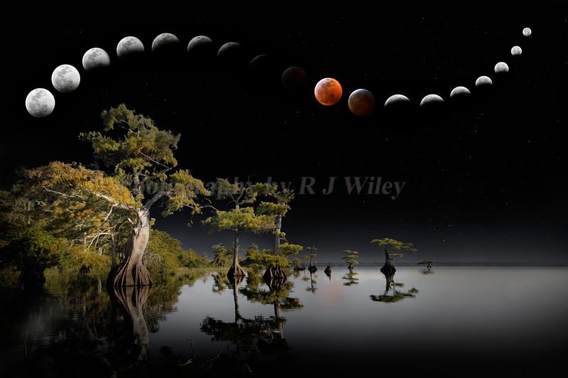 Blood Wolfmoon eclipes 2019