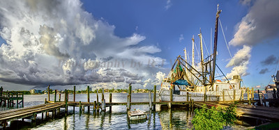 Ft Myers Beach shrimpboat 14x30 a