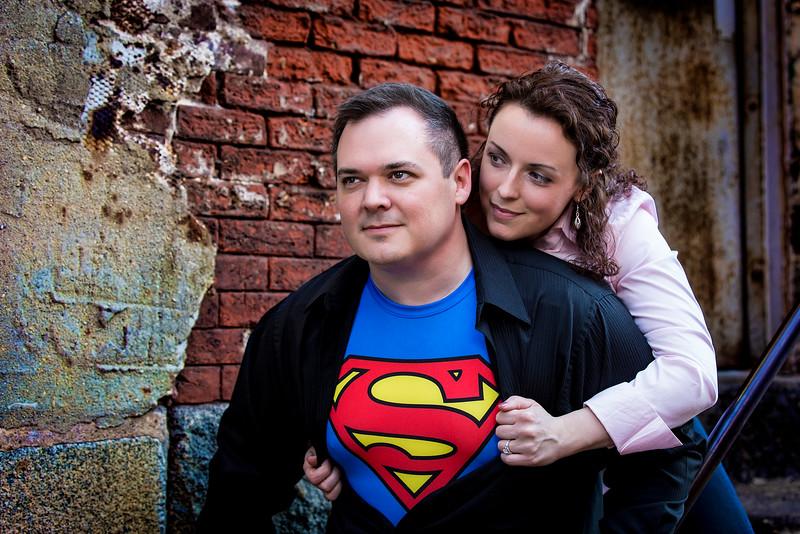 John & Kimberly Philly Engagement - Superman