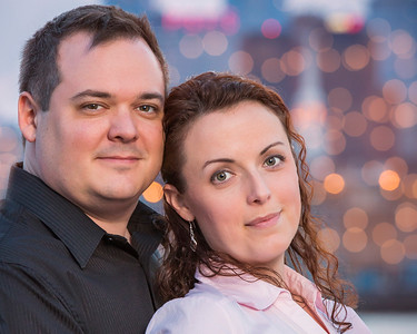 John & Kimberly Philly Engagement - City Lights