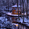 Gazebo in the woods, Centennial Lakes - Medford NJ