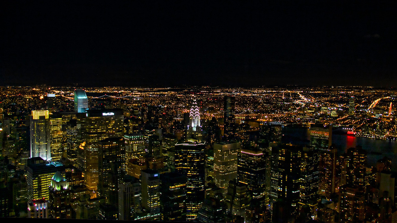 Night View From the Empire State Building