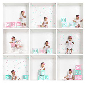 3x3 1st birthday box photo