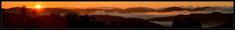 Sunrise & Clouds Over Blue Ridge