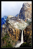 Cathedral Rocks & Bridalveil Fall After Spring Storm<br /> <br /> A late-spring storm brings snow to<br /> Cathedral Rocks above Bridalveil Creek.<br /> <br /> Yosemite National Park, California<br /> <br /> 15-MAY-2011